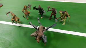 Small army of medieval-apocalyptic animal warrior figures