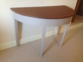 Semi-Circular Hall Table - Painted in Laura Ashley 'Truffle'