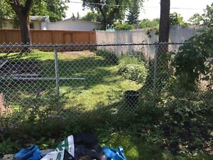 18 feet of chain link fencing.