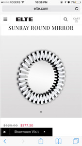 Elte Sunray round mirror for sale - brand new