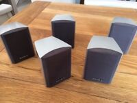 SONY SURROUND SOUND SPEAKERS X 5 - 60W - FRONT, CENTRE & REAR, GREAT SOUND