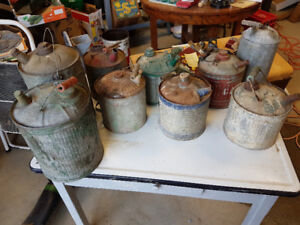Antique fuel and watering cans