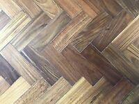 Parquet flooring , wooden floor , Iroko wood
