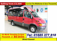 2005 - 05 - IVECO DAILY 40C13 2.8D 12 SEAT DISABLED ACCESS MINIBUS (GUIDE PRICE)