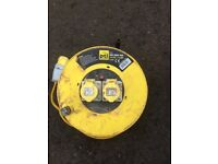 Round 110 volt transformer and 50 metre extension lead 110 volt