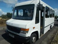 mercedes benz vario 8 seater minibus-coach with disabled electric ramp 2003 (03) £2995