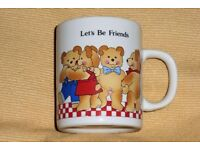 Child's / Children's Pottery Teddy Bear Picture Mug / Cup, Histon