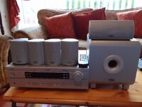 Yamaha AV Receiver HTR- 563RDS with Surround Sound Speakers