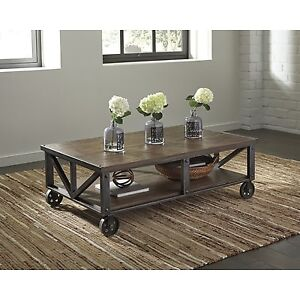Cart style coffee table