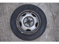 A used car tyre and wheel 145R13 D-164 RADIAL Free!