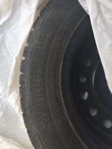 215/55R16 4 Winter Tires on Rims (Ford Focus)