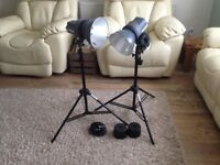 Interfit ex150 Home Studio Lighting kit 2 light heads stands