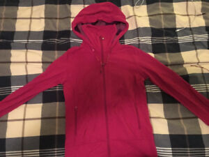 Lululemon Pink zip up and Firefly grey pullover