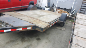 2000 trail tech flat deck trailer
