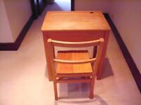 Childrens Solid Wood Desk and Chair