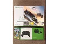 BRAND NEW, SEALED Xbox One S 500gb + two games + additional controller + chatpad & headset