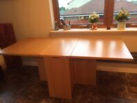 BARGAIN! SKOVBY BEECH EXTENDABLE TABLE WITH STORAGE DRAWER