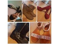 10 pairs of women's shoes size 5