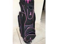 Black and pink ladies' golf bag