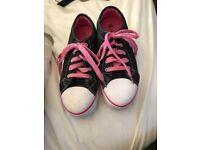 Pink & black girls heelys for sale