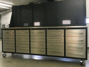 NEW HD 20 Drawer Toolbox / Storage Cabinet & Work Bench
