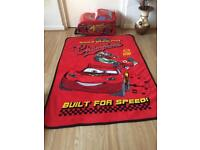 Lightening McQueen suitcase and matching blanket or throw on