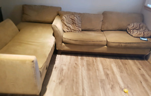 Used lazy boy sectional couch for sale as is