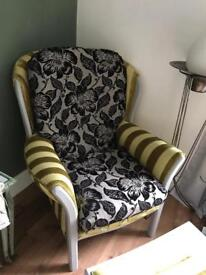 BEAUTIFUL CHAIR AND MATCHING STOOL