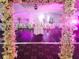 Wedding Day Decor, Flower Walls, Wedding Day Centrepieces, Wedding Stages, Flower Arrangements