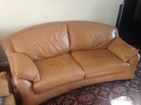 2 matching Leather sofas one 3 seater and one 2 seater. Lovely Italian substantial items.