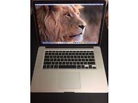 APPLE MACBOOK PRO 15 INTEL CORE 2 DUO 2.8GHZ 8GB RAM 500GB HDD WIFI WEBCAM OS X