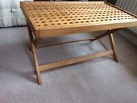 Habitat collapsible wooden coffee table, very good condition,