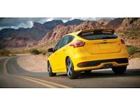 Ford Focus ST rear bumper skirt and trim