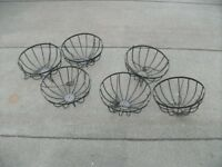 6 Wire Frames for Hanging Baskets