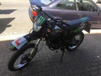 White knuckle 125 motocross bike