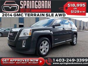 2014 GMC Terrain SLE AWD w/Sunroof $109B/W INSTANT APPROVAL, DRI