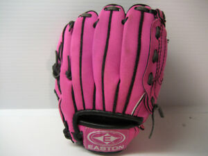Girls Pink Easton Left Hand Baseball Glove