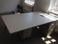 office desk Ikea white board room meeting table