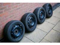 16 inch 5x100 Steel Wheel Set