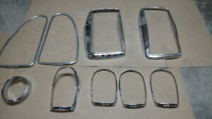 MERCEDES  GULLWING 300SL Headlite bezels/WINDOW FRAMES