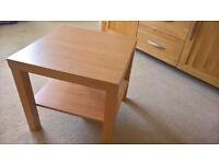 Wilko 'Oslo' Oak Effect End / Side / Coffee Table with Shelf