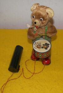 Drummer Toy Battery Operated Barney Bear Vintage