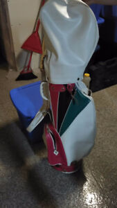 His and Hers golf clubs and bags