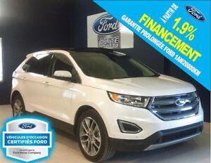 2016 Ford Edge TITANIUM, CERTIFIÉ 1.9% FORD
