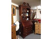 Display Cabinet Wooden Glass Doors Drawers and Desk
