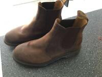 Dr martens size 10 brown suede leather