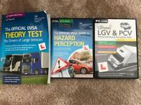THEORY TEST BOOK AND CD ROMS LGV PCV LARGE VEHICLES