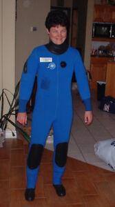 Ladies scuba drysuit size small.