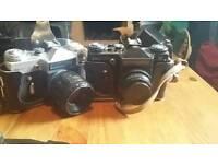 Vintage 35mm zenit camera x 2