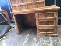 Segusino heavy duty single desk Mexican pine
